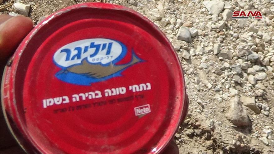 Ejército sirio incauta misiles de EEUU y alimentos israelíes en Daraa