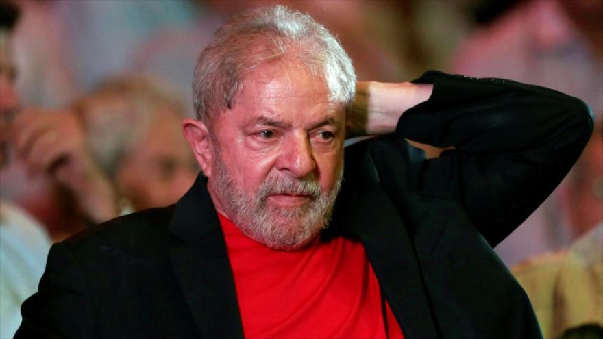 El expresidente brasileño Luiz Inácio Lula da Silva durante un acto en Sao Paulo, 18 de enero de 2018.