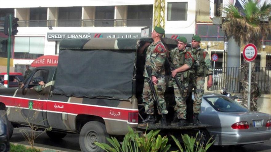 Miembros de la Policía de El Líbano.