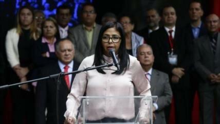 Rodríguez destaca 'rostro de la derecha venezolana' en sanciones