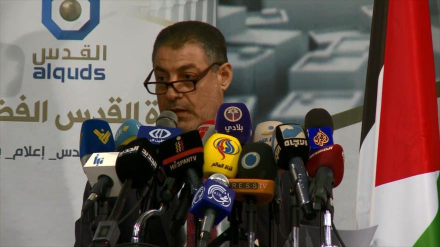 Se reúnen en Beirut en solidaridad por cierre de la cadena Al-Quds