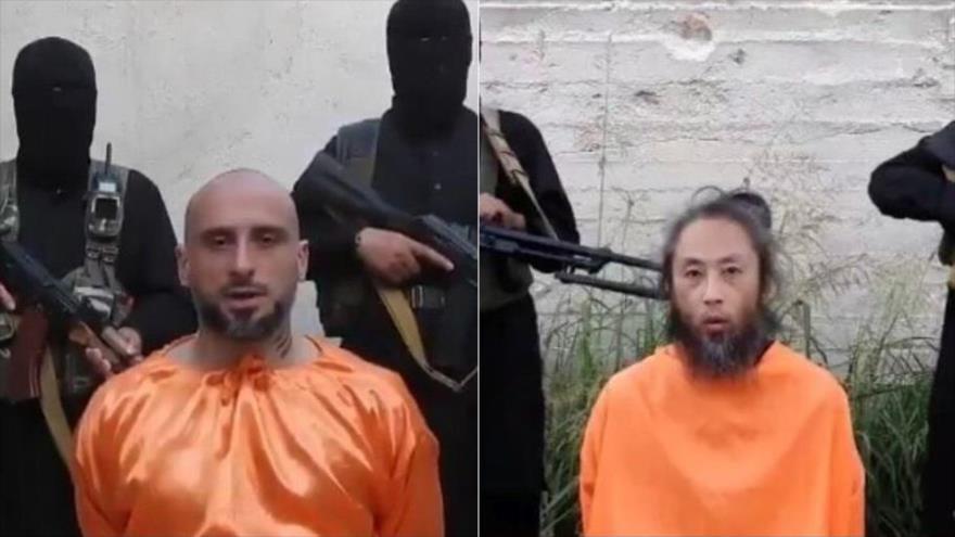Terroristas en Siria difunden vídeo de rehenes japonés e italiano