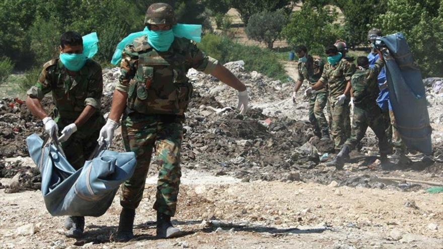 Encuentran fosa común en Daraa con restos de 51 soldados sirios