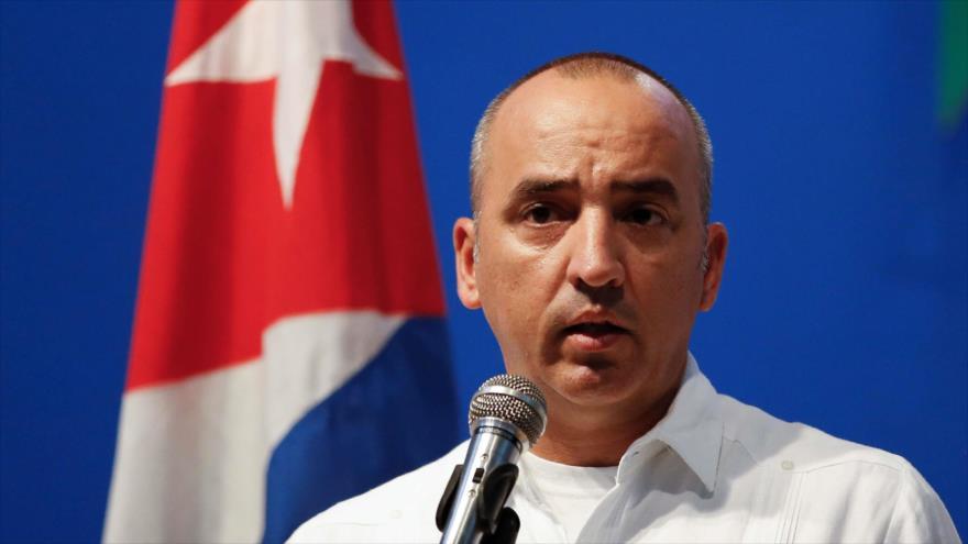 El director de Asuntos Consulares y Cubanos Residentes en el Exterior de la Cancillería de Cuba, Ernesto Soberón.