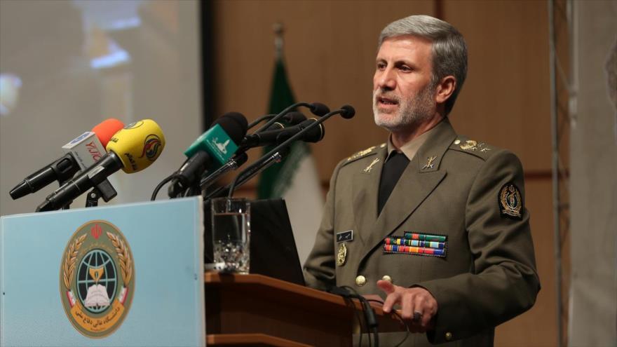 El ministro iraní de Defensa, el general de brigada Amir Hatami, en una reunión en Teherán, capital persa.