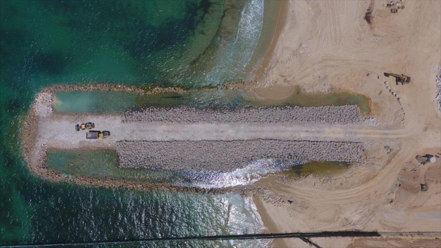 Israel difunde imágenes de la barrera marítima en límites de Gaza