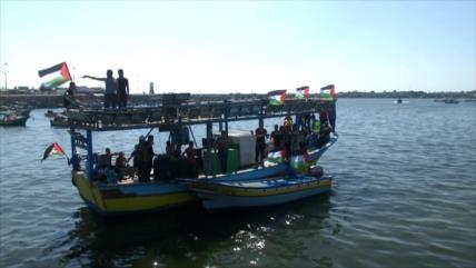 Barcos salen desde puerto de Gaza para romper asedio israelí