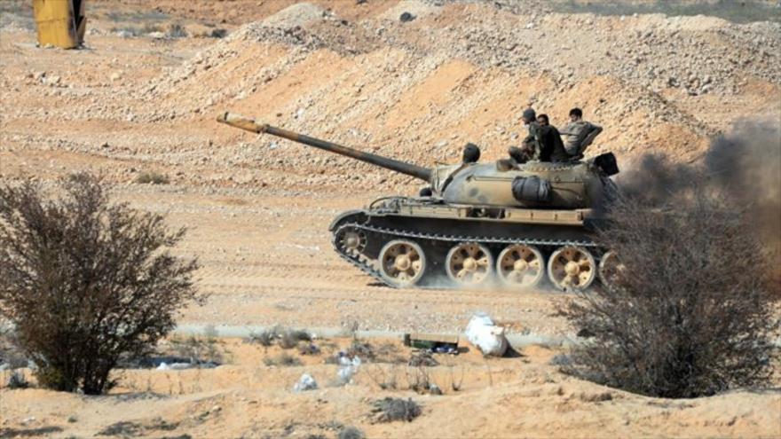 Las fuerzas del Ejército sirio en la provincia meridional de Daraa.