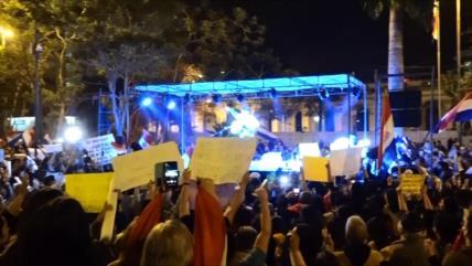 Masiva manifestación en Paraguay contra la corrupción
