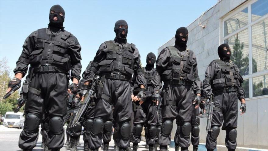 Fuerzas de seguridad de la República Islámica de Irán en una operación.