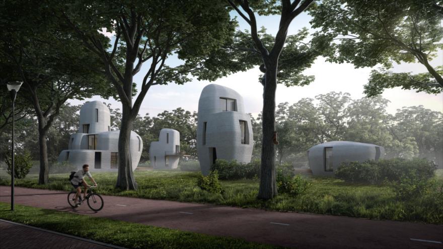 El primer 'barrio impreso' del mundo que será construido en Eindhoven en Los Países Bajos.