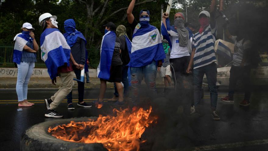Una protesta estudiantil efectuada en Managua, capital de Nicaragua, el 2 de agosto de 2018.