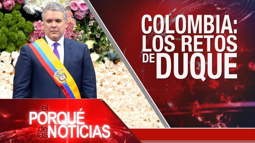 El Porqué de las Noticias: El mundo reacciona a favor de Irán. Civiles muertos en Siria. Nuevo presidente en Colombia.