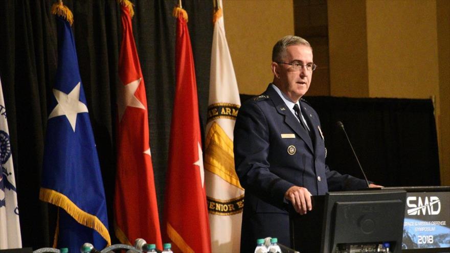 El jefe del Comando Estratégico de las Fuerzas Armadas de Estados Unidos, el general John Hyten.