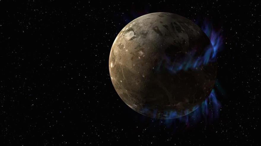 La luna Ganímedes de Júpiter.