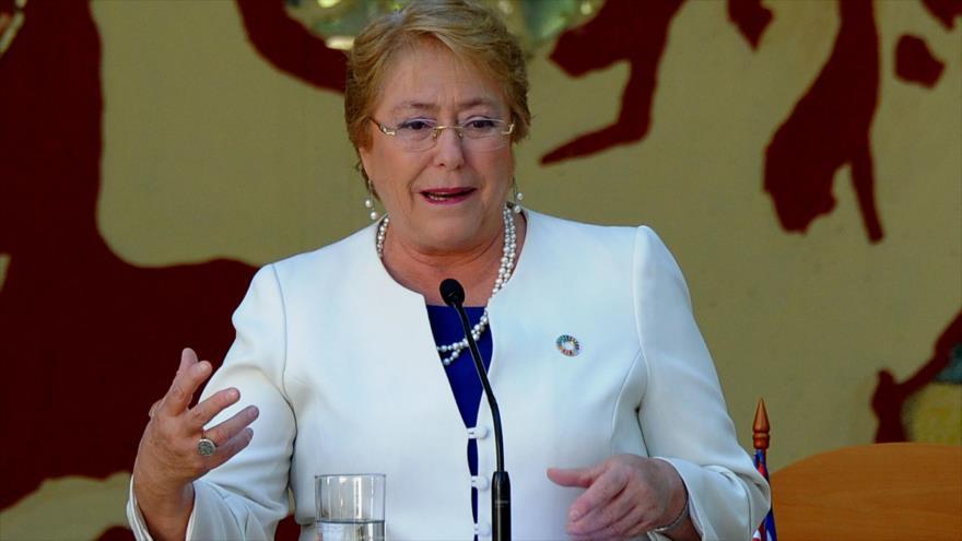 La nueva responsable de derechos humanos de la ONU, Michelle Bachelet, en La Habana, capital de Cuba, 8 de enero de 2018. Foto: AFP