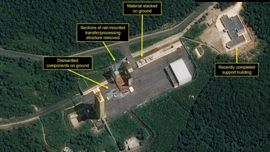 Foto: Pyongyang desmantela base de lanzamiento de misiles Sohae