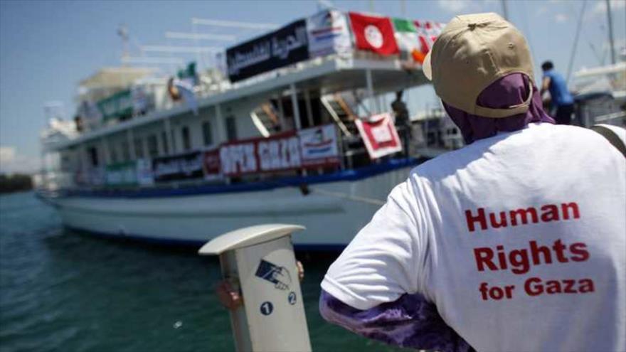 Una flotilla, con activistas pro derechos humanos a bordo, se dirige hacia Gaza. (Fuente: Reuters)