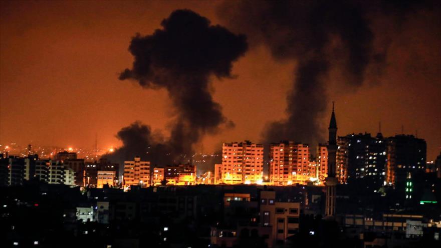 Aviones de guerra de Israel bombardean varias zonas de Gaza
