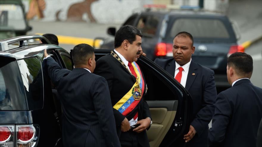 El presidente de Venezuela, Nicolás Maduro, asiste a una ceremonia en Caracas (capital), 4 de agosto de 2018 (Foto: AFP).
