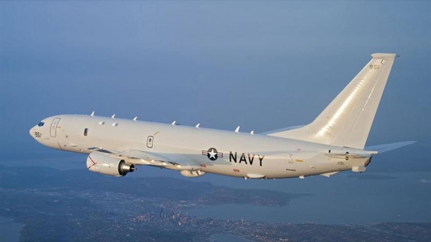 Un avión militar P-8 Poseidon de la Marina de Guerra de EE.UU.