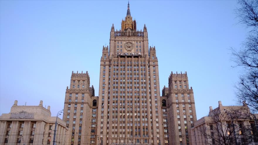 El edificio del Ministerio de Asuntos Exteriores de Rusia en Moscú (capital).
