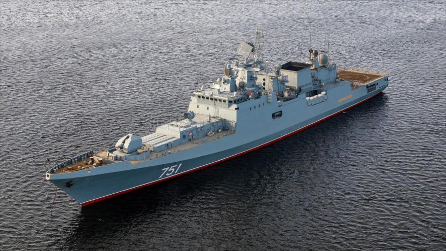 La fragata Almirante Essen de Rusia.