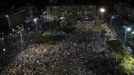 Masiva marcha contra ley de 'estado-nación judío' en Tel Aviv