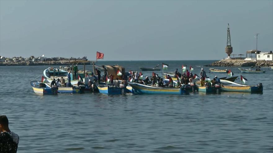 Tercera marcha marítima en Gaza para romper el asedio