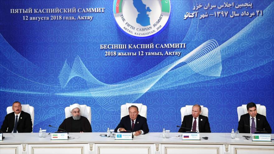 Los 5 países ribereños firman acuerdo sobre estatus del mar Caspio