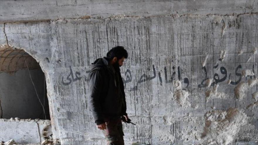 Vídeo: Espía del Ejército sirio recorre un bastión terrorista