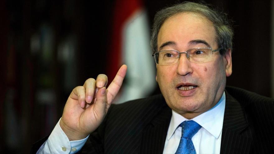 El viceministro de Asuntos Exteriores de Siria, Faisal al-Miqdad.