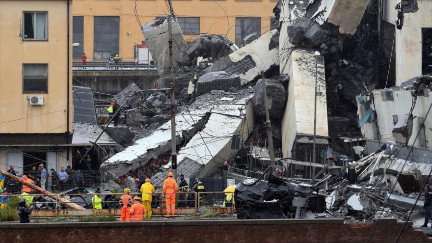 Tragedia en Italia: se derrumba un gigante puente en Génova