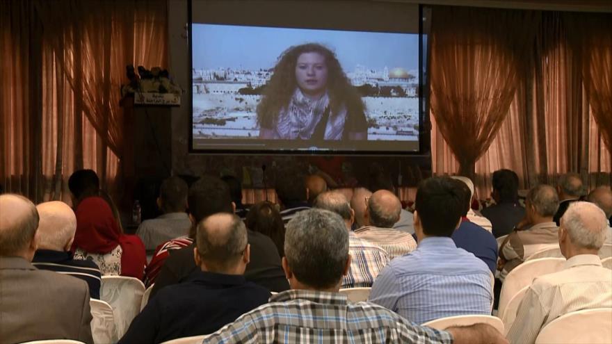 Homenajean a Ahed Tamimi y presos palestinos en El Líbano