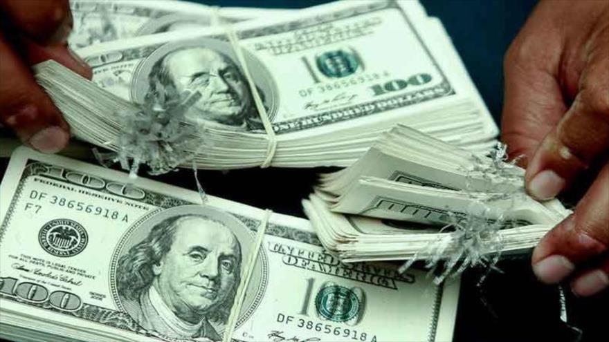 Billetes de dólar estadounidense.