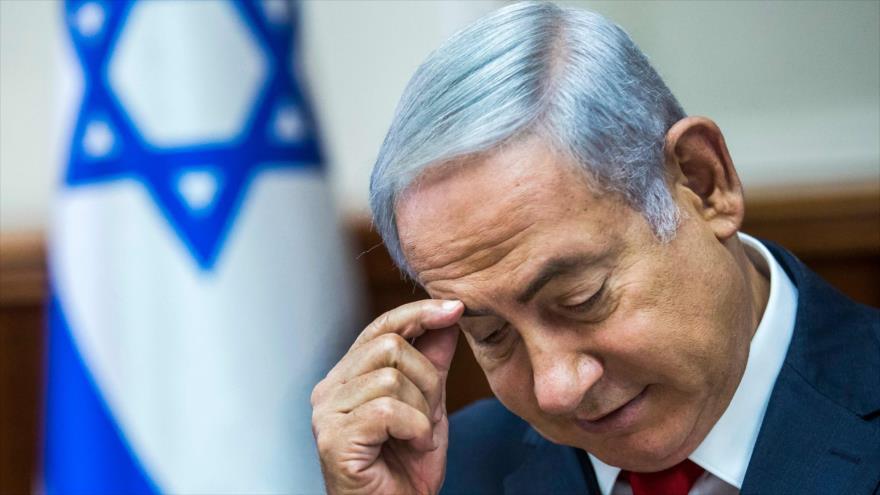 El primer ministro israelí, Benjamín Netanyahu, en una reunión con su gabinete en Al-Quds (Jerusalén), 12 de agosto de 2018. (Foto: AFP)
