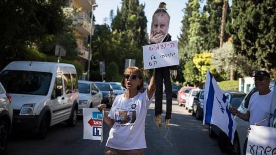 Protestan frente a residencia de Netanyahu por casos de corrupción