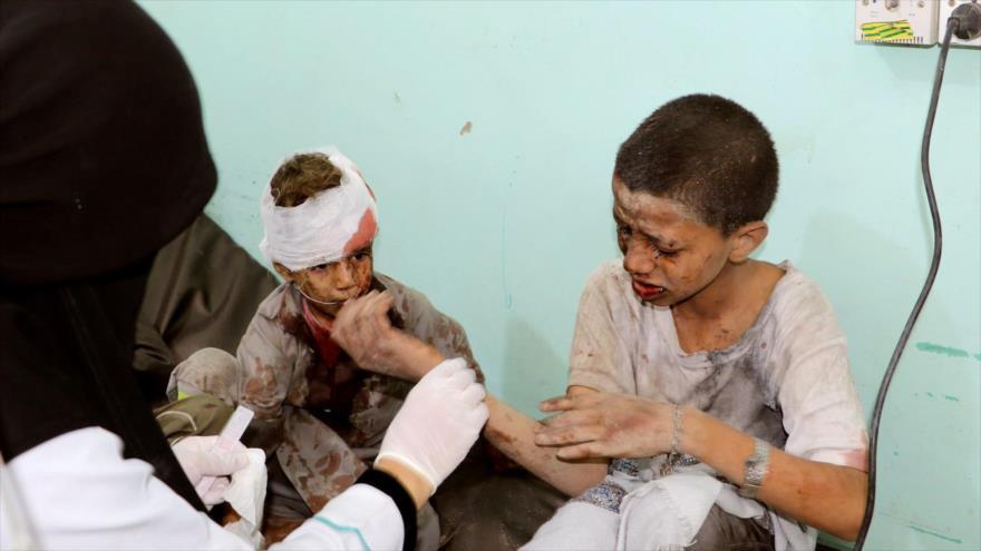 Arabia Saudí no excluye a los niños de su agresión contra Yemen