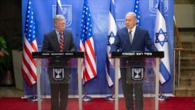 Bolton informa a Netanyahu de presiones de Washington contra Irán