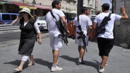 Israel impulsa permiso a 600 000 colonos para portar armas