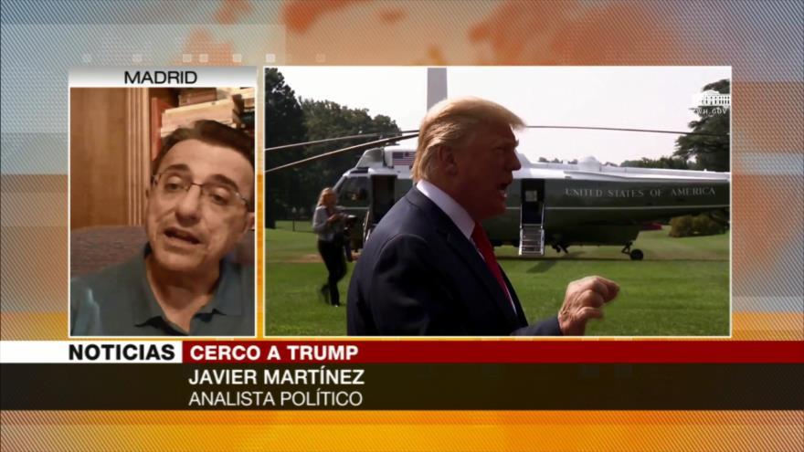 Martínez: corrupción de allegados de Trump acercará su impeachment