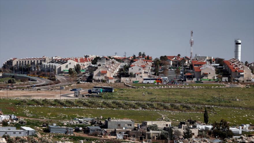Una visión general del asentamiento israelí de Adam, cerca de la ciudad palestina de Ramalá, 30 de enero de 2015. Foto: AFP