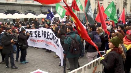 Estudiantes chilenos protestan contra proyecto laboral de Piñera
