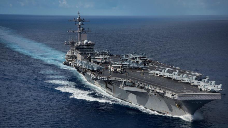 EEUU vuelve a desafiar a China con portaviones en aguas en disputa | HISPANTV