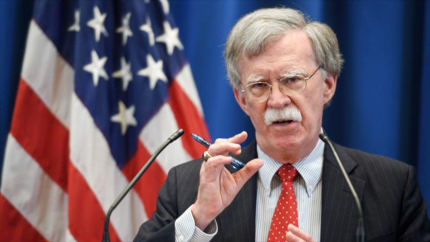 El asesor de la Seguridad Nacional de EE.UU., John Bolton, en una rueda de prensa en Ginebra, 23 de agosto de 2018. (Foto: AFP)