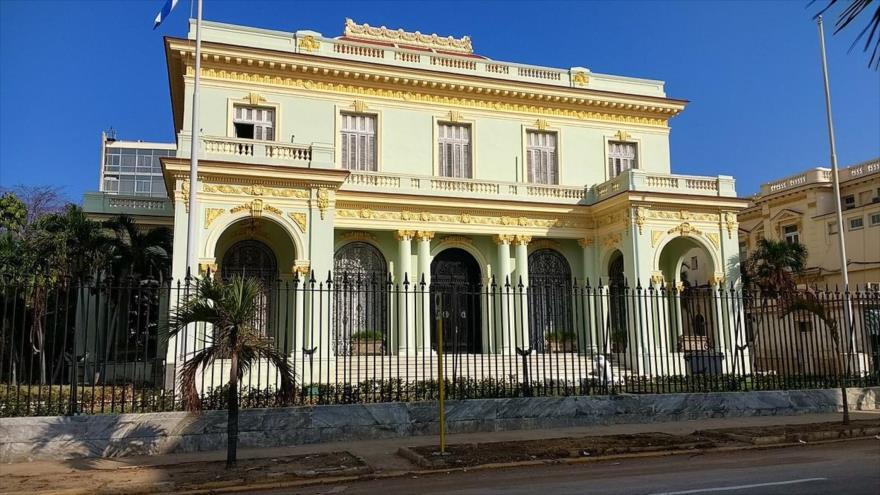 Edificio del Ministerio de Asuntos Exteriores de Cuba en La Habana, la capital.