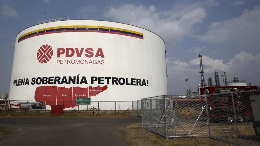 La sede de la compañía venezolana Petróleos de Venezuela (PDVSA) en Carcas (la capital).