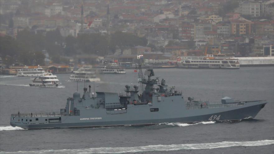 Rusia reta a EEUU y despliega dos fragatas en el Mediterráneo