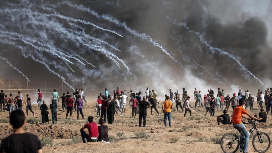 Protestas en apoyo al derecho al retorno de los palestinos en la Franja de Gaza, 17 de agosto de 2018 (Foto: AFP).