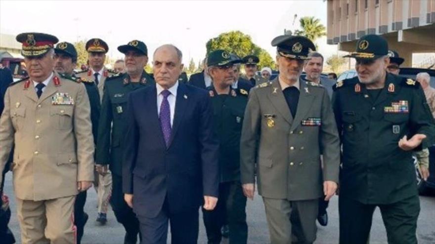 El ministro de Defensa de Irán, el general de brigada Amir Hatami, a su llegada a Damasco, la capital de Siria, 26 de agosto de 2018.